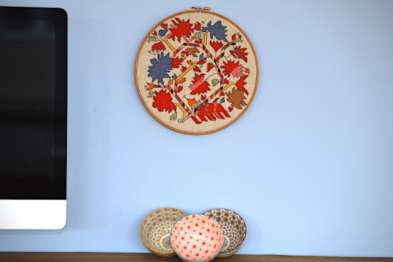 DMC Bulgarian embroidery colourful flowers българска шевица български шевици