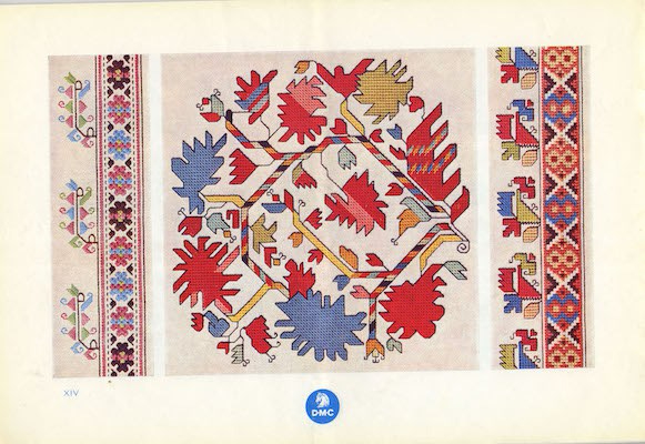 DMC Bulgarian embroidery colourful flowers