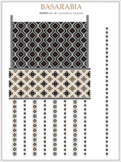 Basarabia Brown Gold Black Modern Orange Embroidery