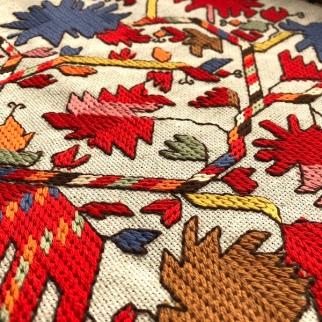 DMC Bulgarian embroidery colourful flowers българска шевица български шевици самоковска самоков